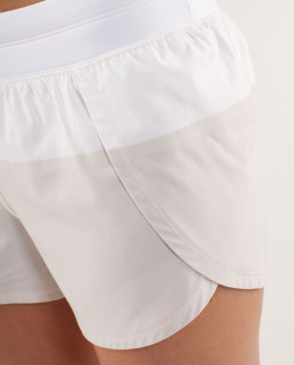 Lululemon Run:  Breeze By Short - White / Dune