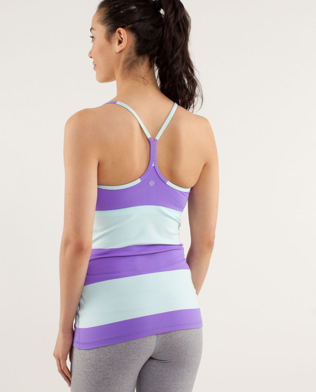 Lululemon Power Y Tank *Luon Light - Bold Stripe Power Purple