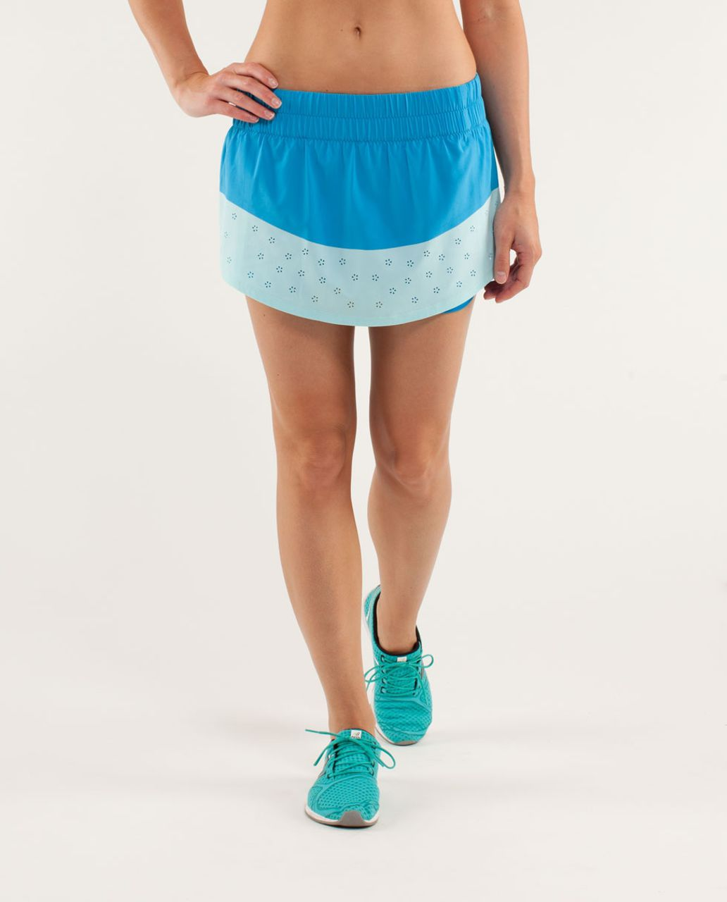 Lululemon Run:  Breeze By Skirt *Laser Cut - Beach Blanket Blue / Aquamarine / Wee Are From Space Aquamarine