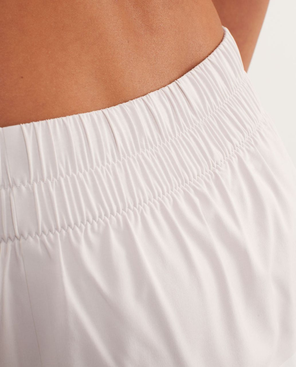 Lululemon Run:  Breeze By Skirt - Dune / White