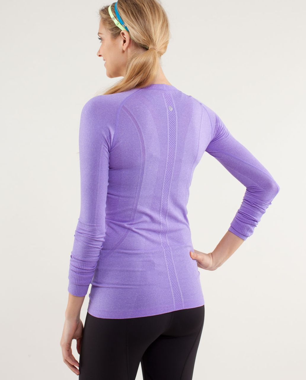 Lululemon Run:  Swiftly Tech Long Sleeve Scoop - Power Purple