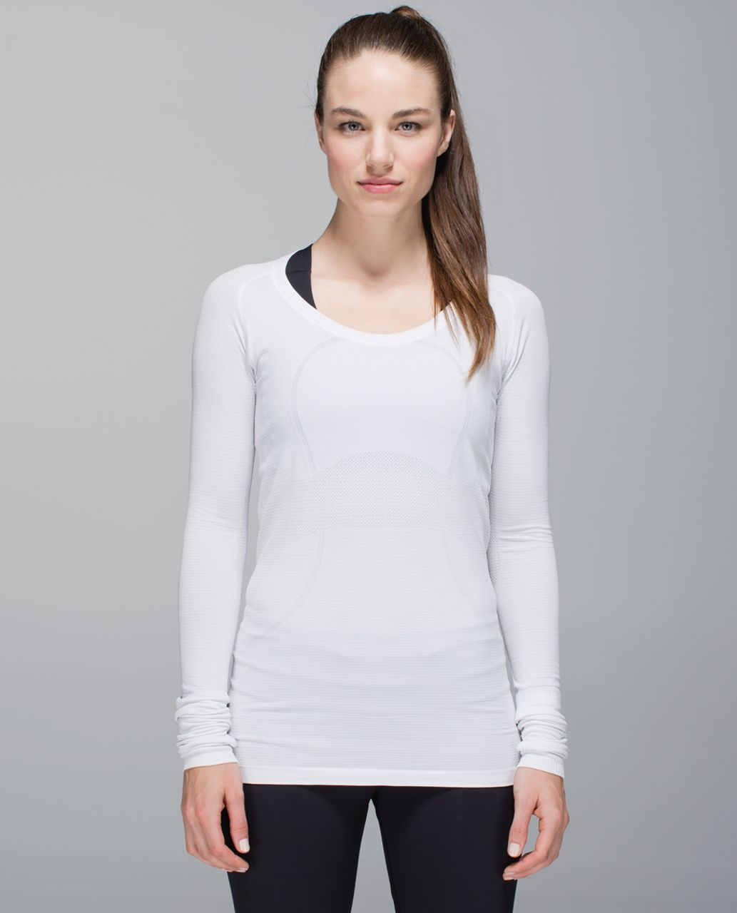 Lululemon Run:  Swiftly Tech Long Sleeve Scoop - White