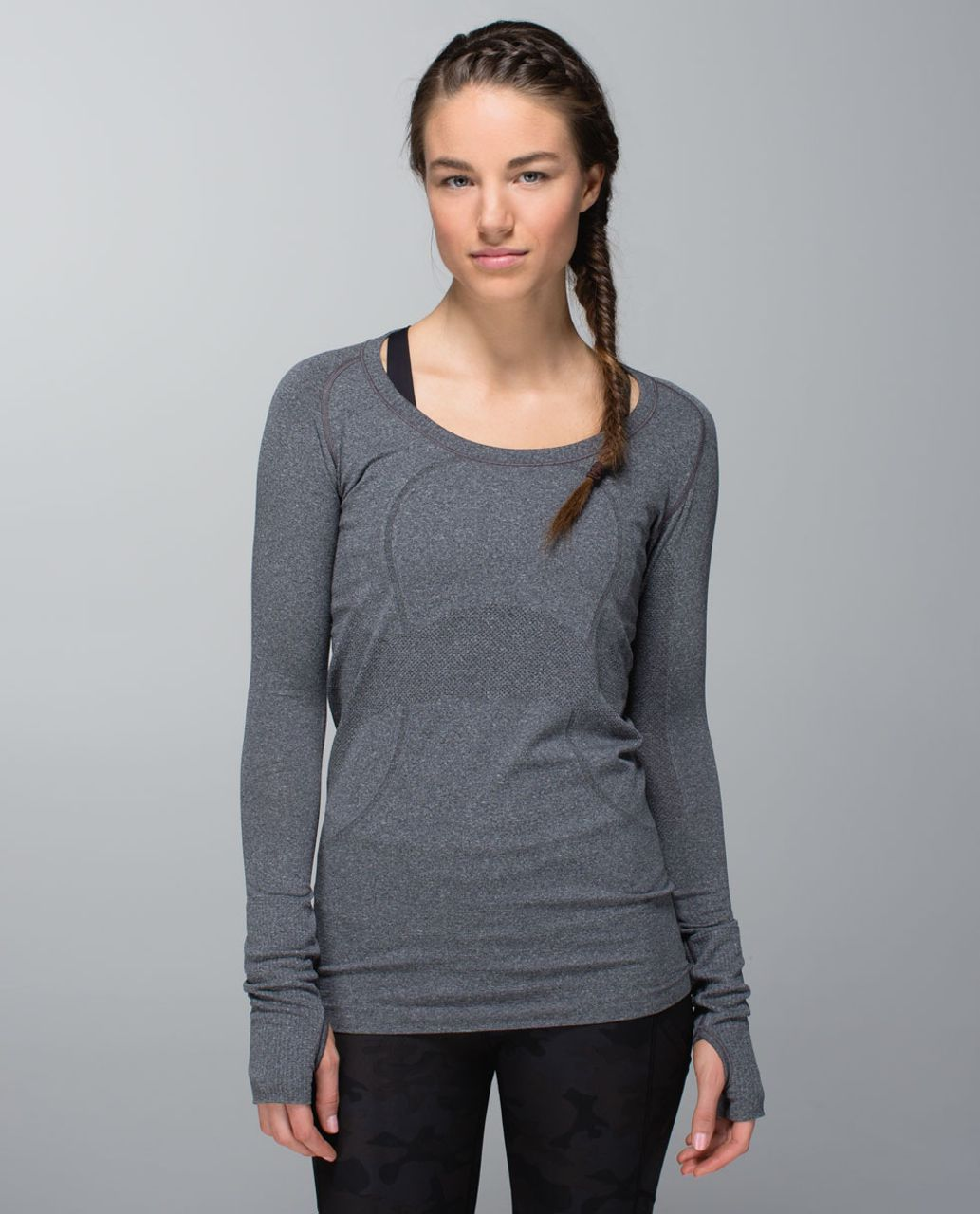 Lululemon Run:  Swiftly Tech Long Sleeve Scoop - Black