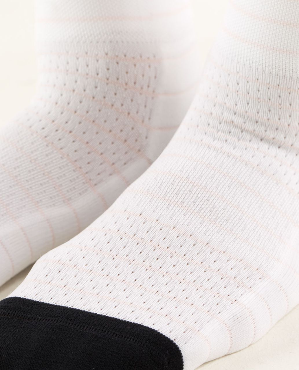 Lululemon Pedal Pusher Cycling Sock - Pedal Stripe White