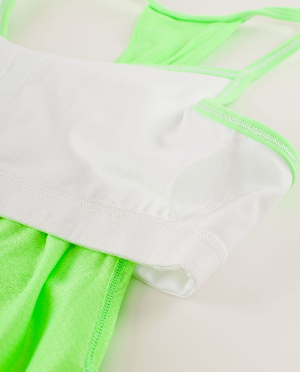 Lululemon No Limits Tank - Zippy Green / White