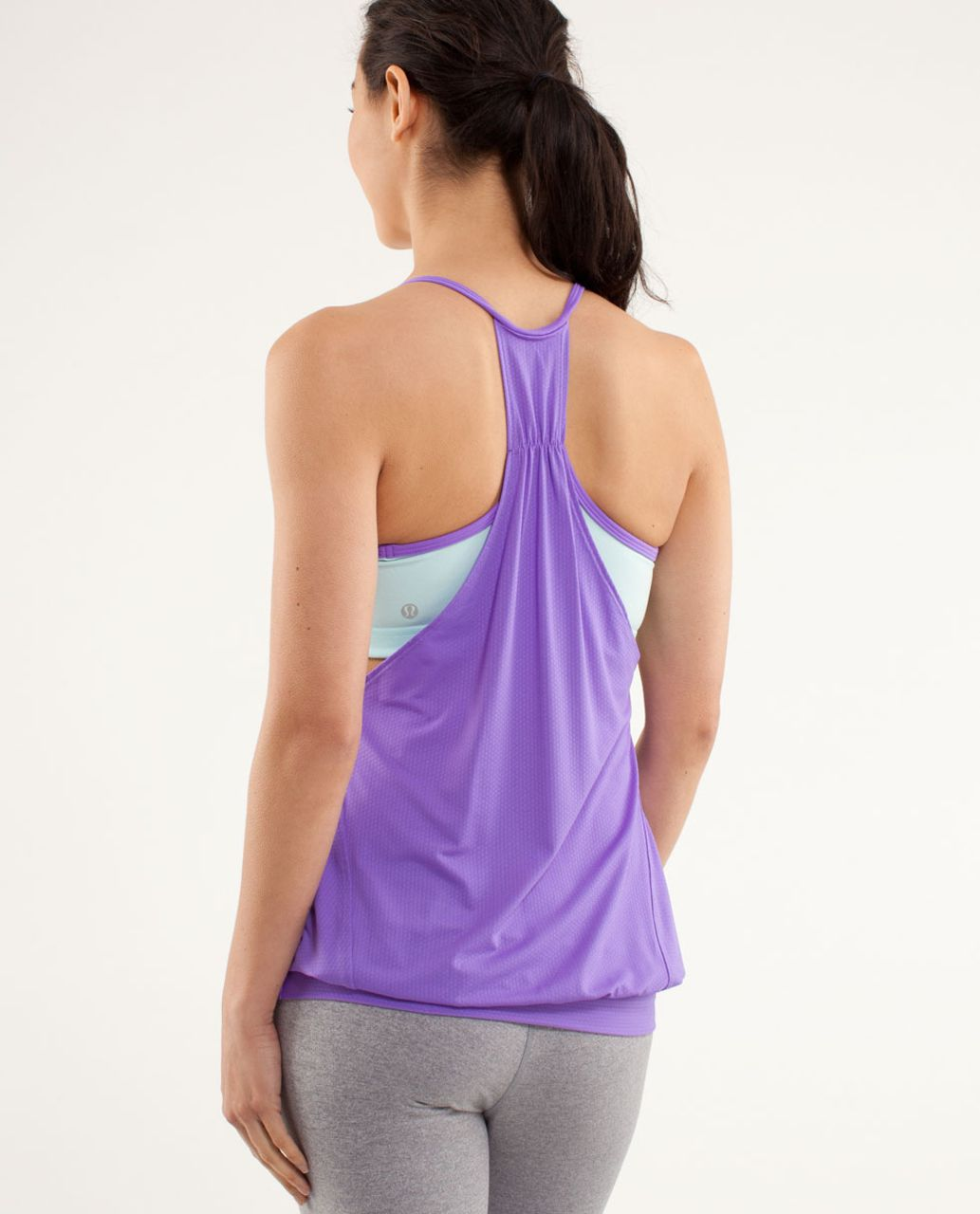 Lululemon No Limits Tank - Power Purple / Aquamarine