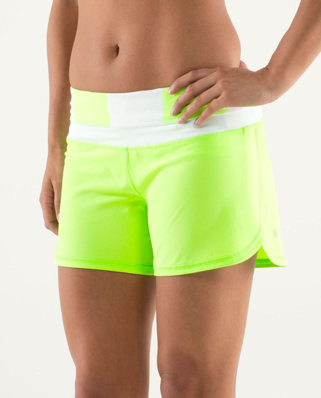 Lululemon Groovy Run Short - Zippy Green / White / Bold Stripe Zippy Green