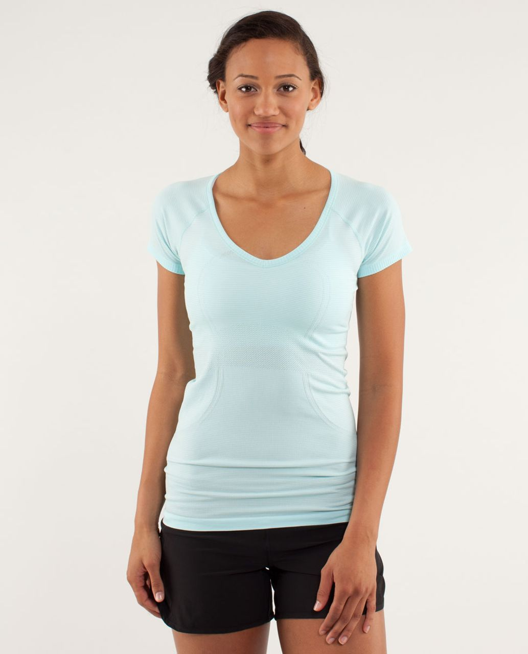 Lululemon Run:  Swiftly Tech V Neck - Aquamarine