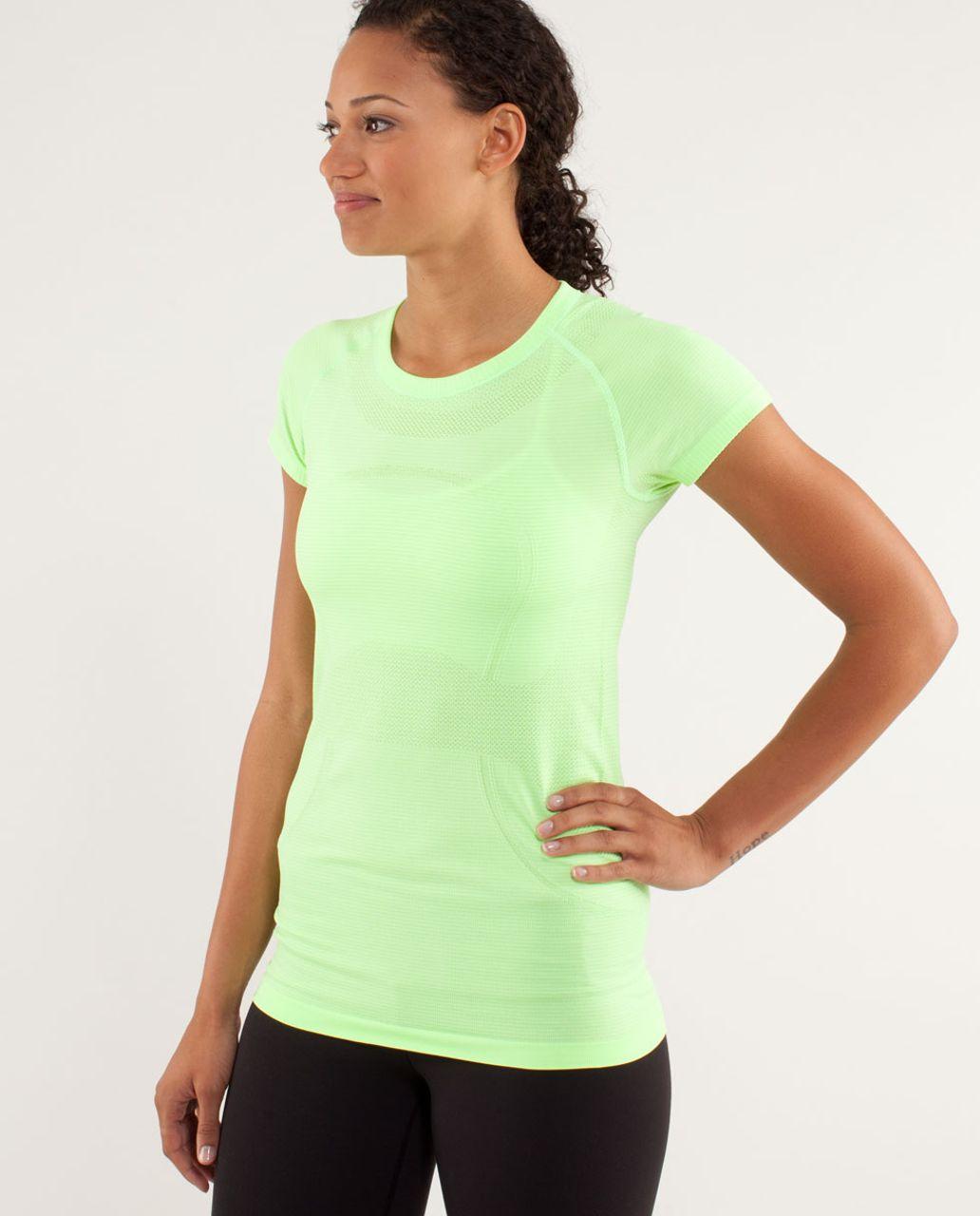 Lululemon Run:  Swiftly Tech Short Sleeve - Zippy Green