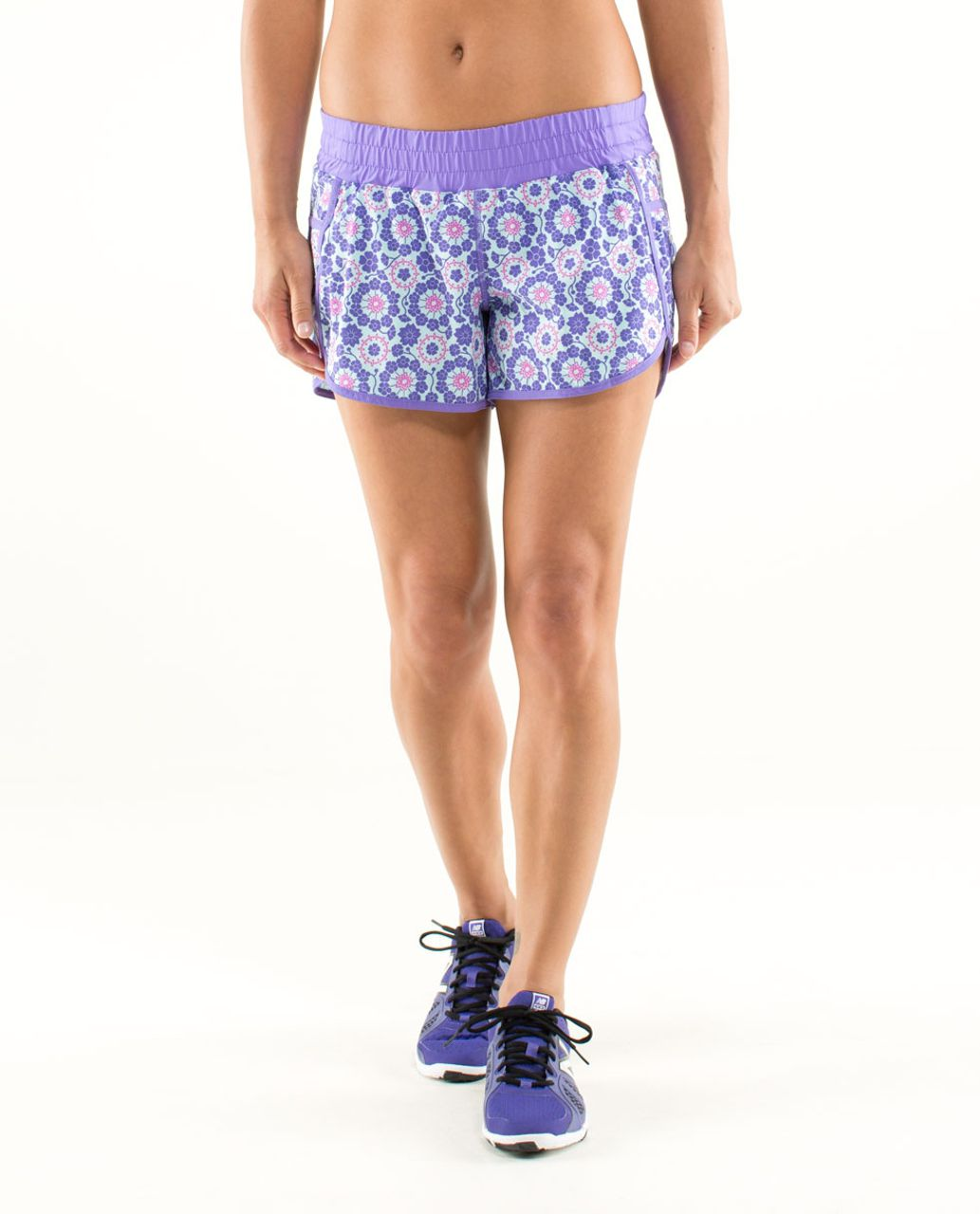 Lululemon Run:  Track Attack Short - Twiggy Printed Power Purple / Power Purple