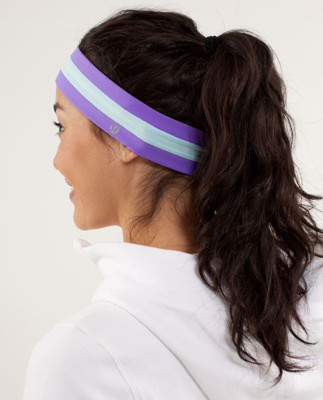 Lululemon Fly Away Tamer Headband - Power Purple / Aquamarine