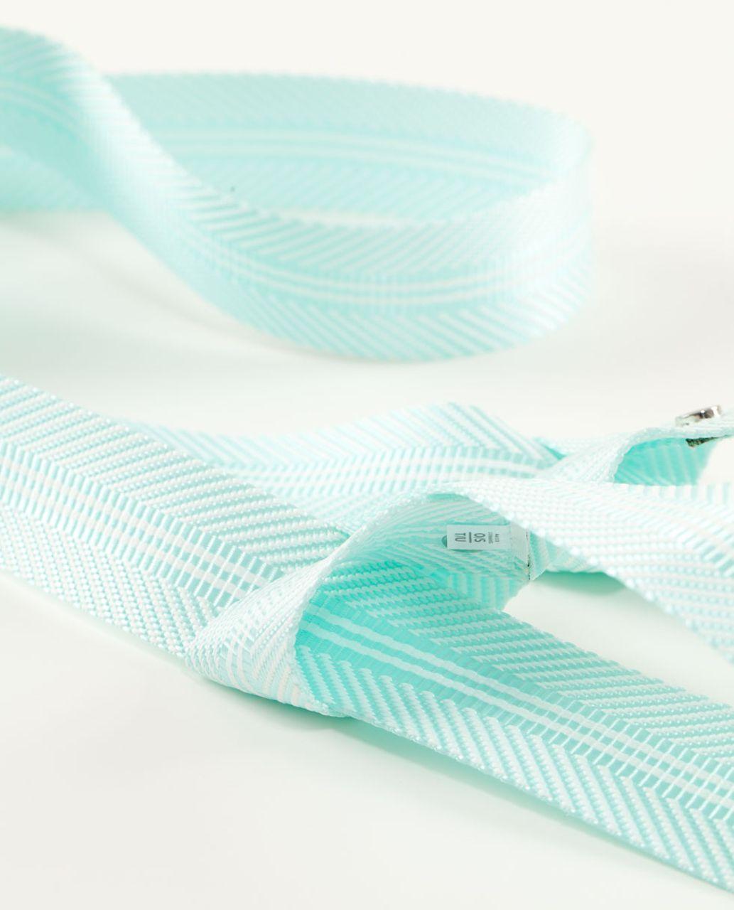 Lululemon Loop It Up Mat Strap - Aquamarine /  White
