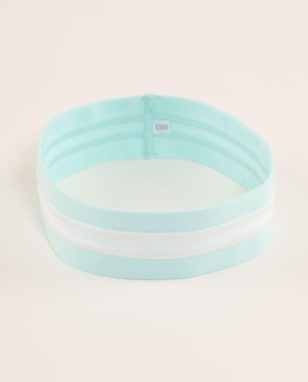 Lululemon Fly Away Tamer Headband - Aquamarine /  White