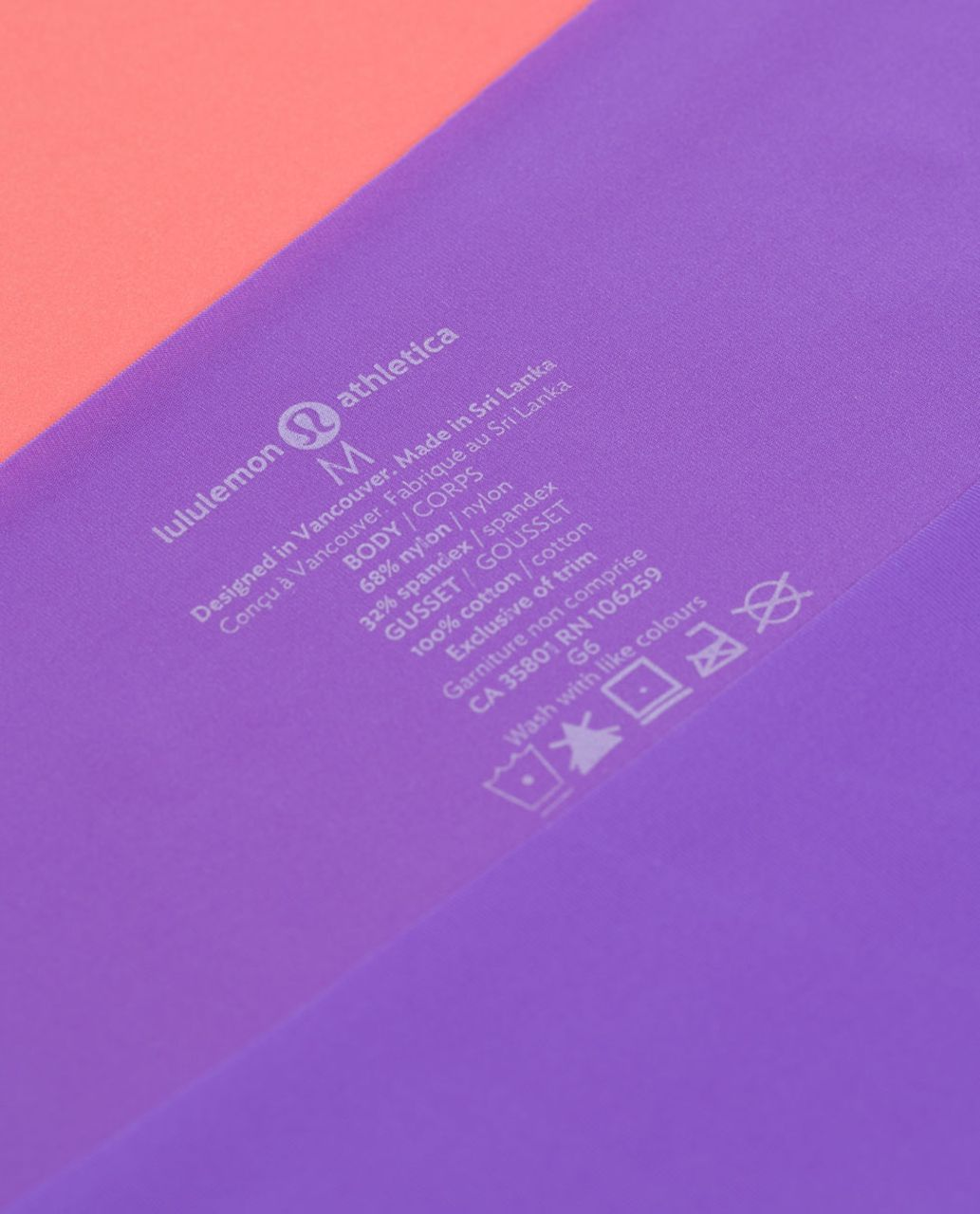 Lululemon Light As Air Hipster - Power Purple