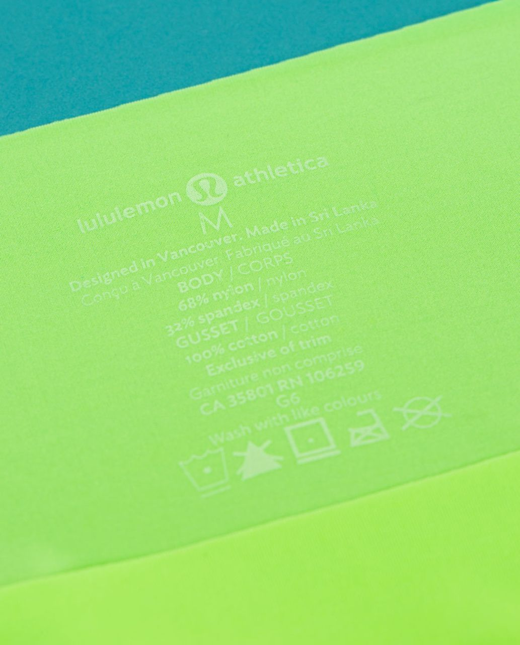 Lululemon Light As Air Hipster - Zippy Green