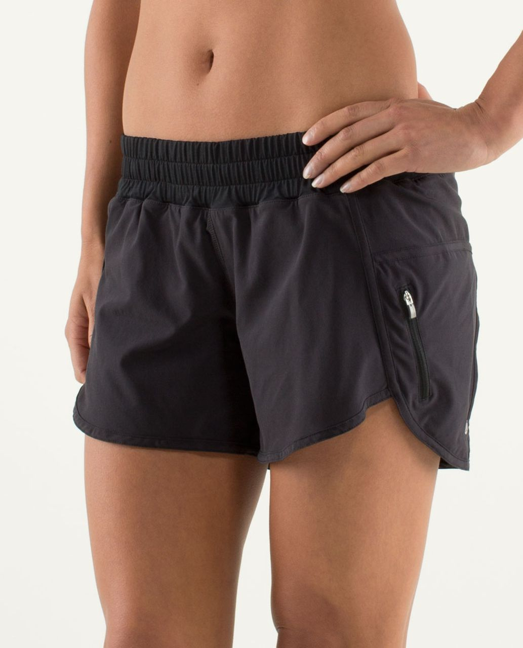 Lululemon Run:  Track Attack Short - Black
