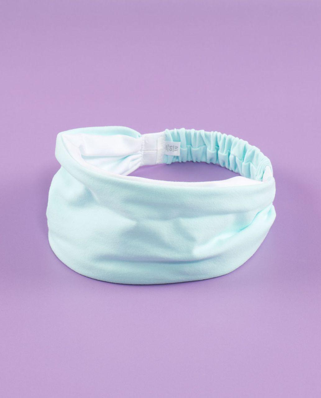 Lululemon Bang Buster Headband *Reversible - Aquamarine /  White
