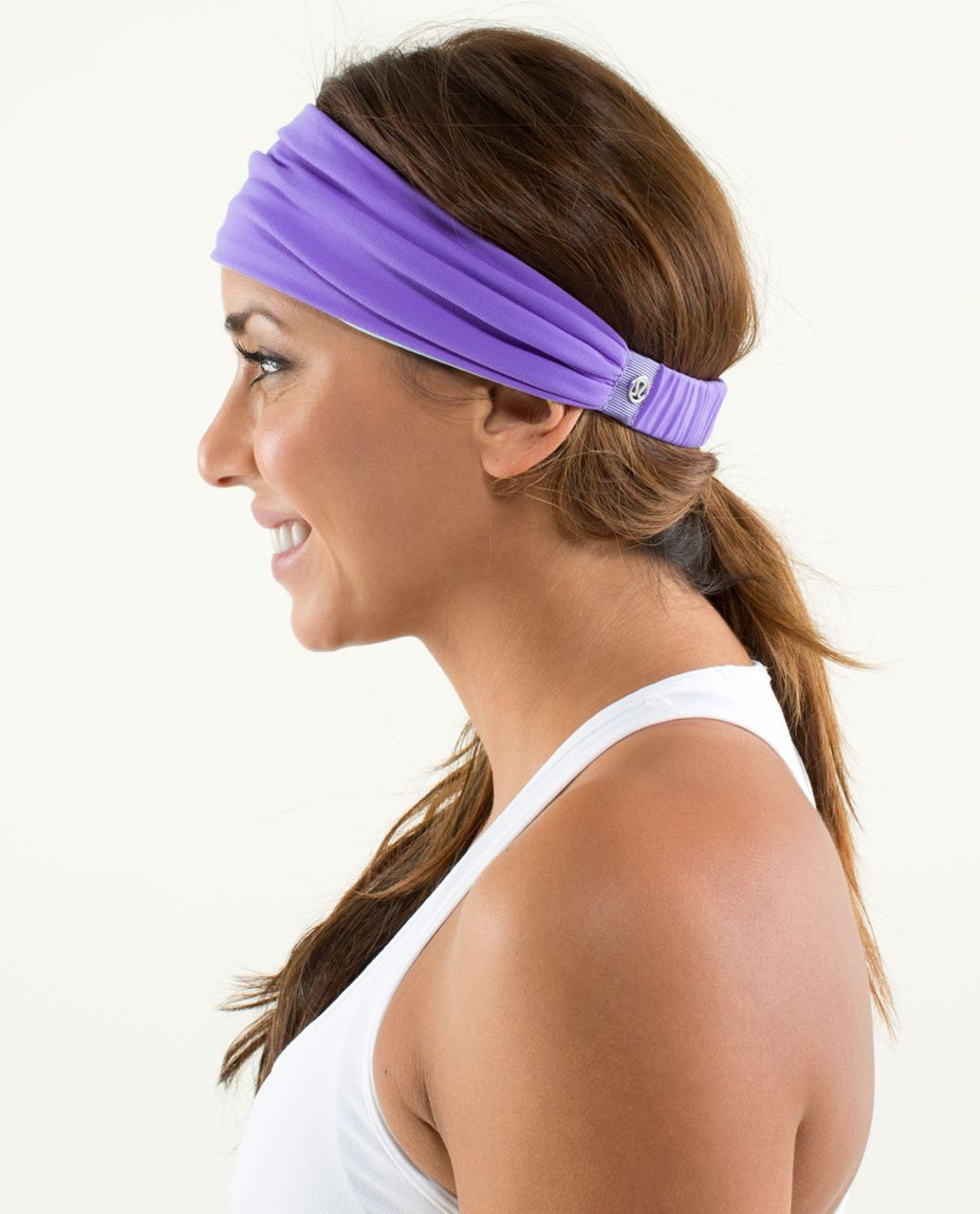 Lululemon Bang Buster Headband *Reversible - Power Purple / Aquamarine