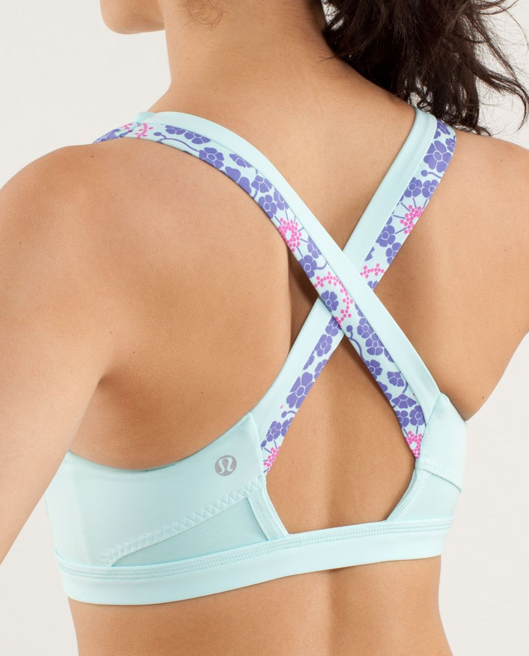 Lululemon Run:  Stuff Your Bra II - Twiggy Printed Power Purple / Aquamarine