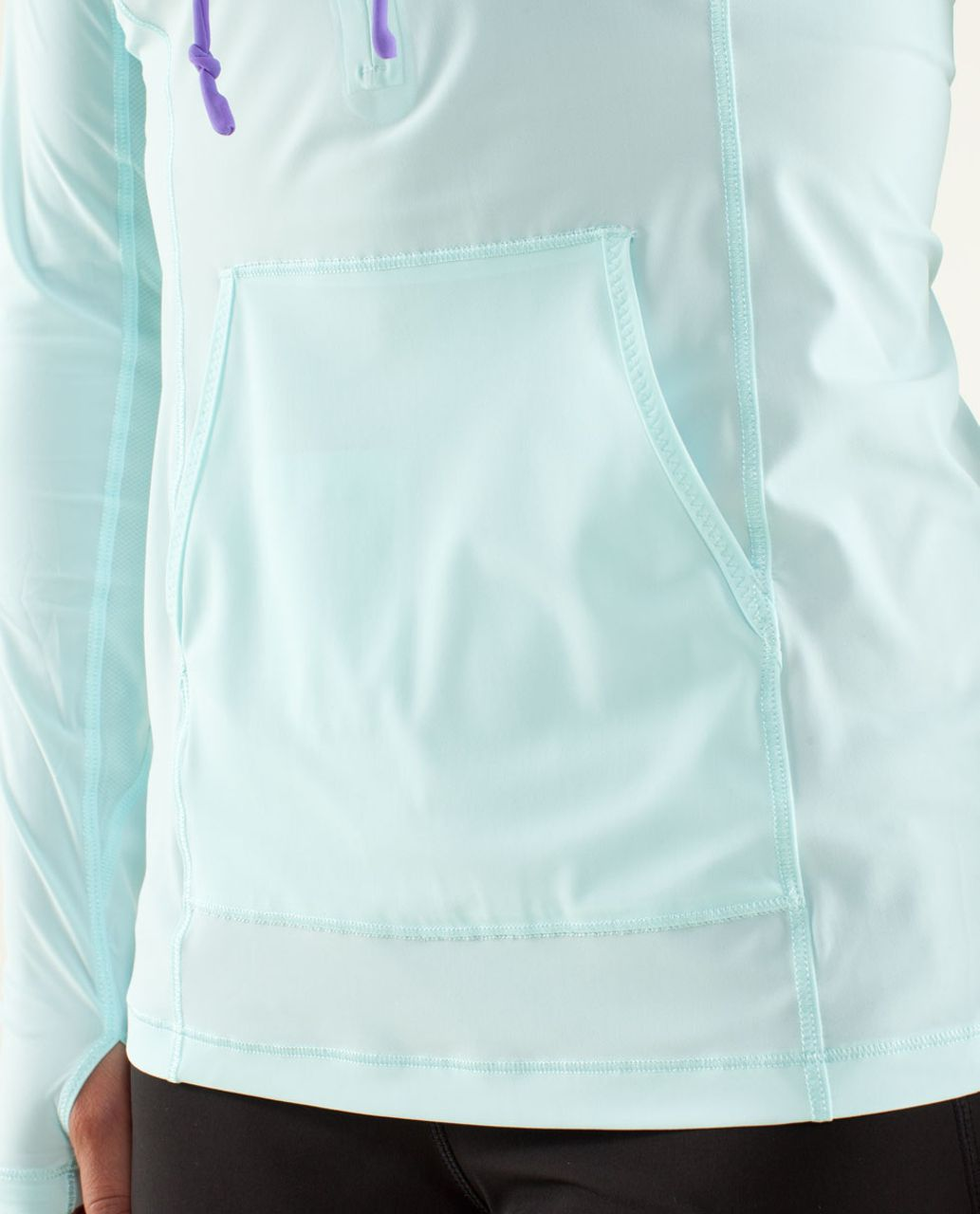 Lululemon Runbeam Hoodie - Aquamarine / Power Purple