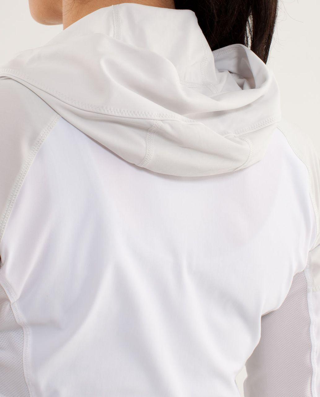 Lululemon Runbeam Hoodie - White /  Nimbus