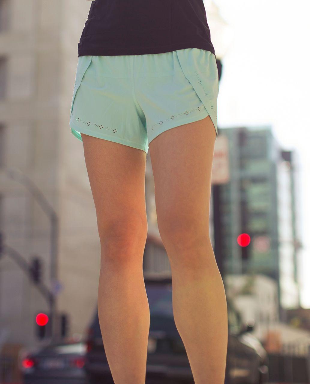 Lululemon Run:  Breeze By Short *Laser Cut - Aquamarine