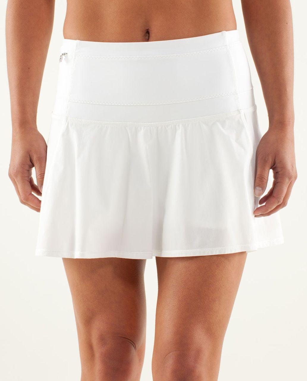 4ac4b44a41 Lululemon Hot Hitter Skirt - White - lulu fanatics