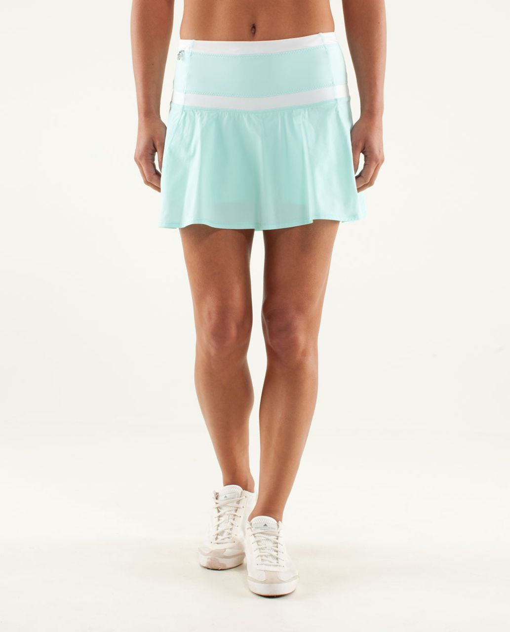 8a16a3ba23 Lululemon Hot Hitter Skirt - Aquamarine / White - lulu fanatics
