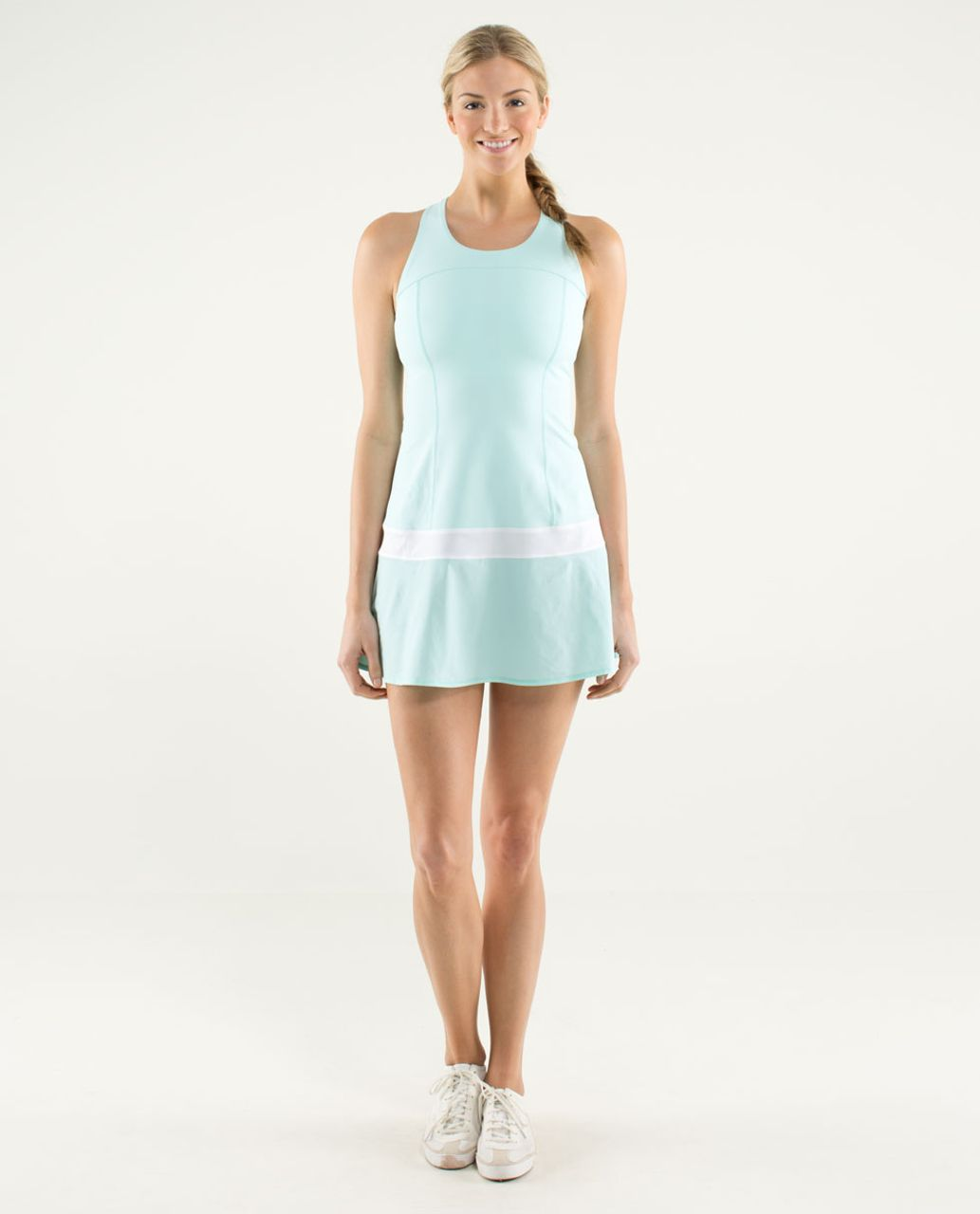 431abcc205 Lululemon Hot Hitter Dress - Aquamarine / White - lulu fanatics