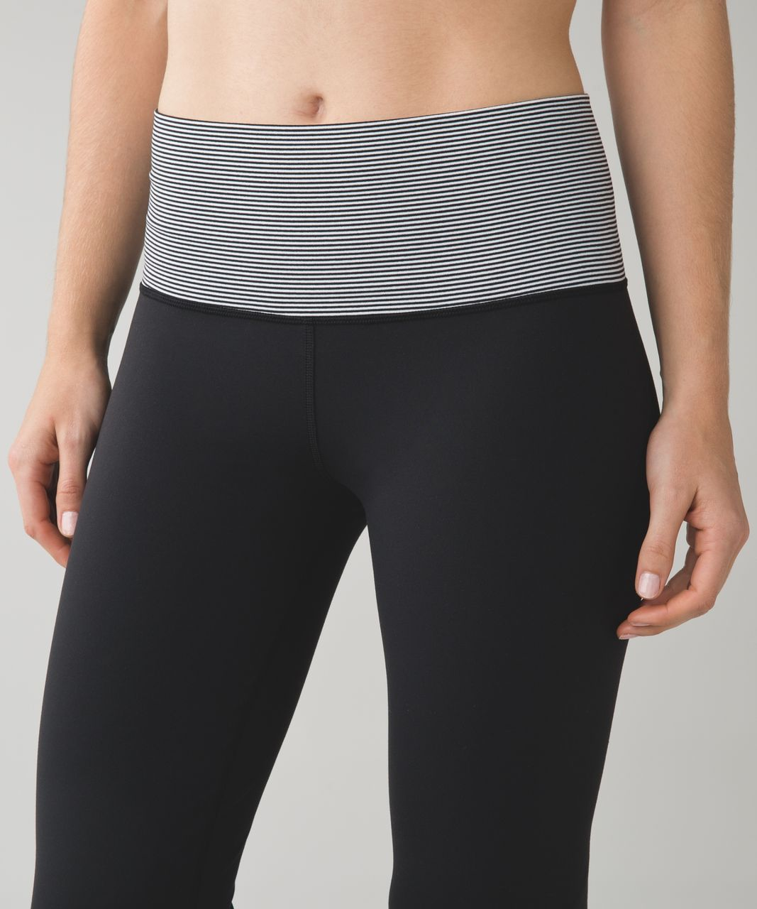 Lululemon Groove Pant III (Regular) *Full-On Luon - Black / Tonka Stripe Black White
