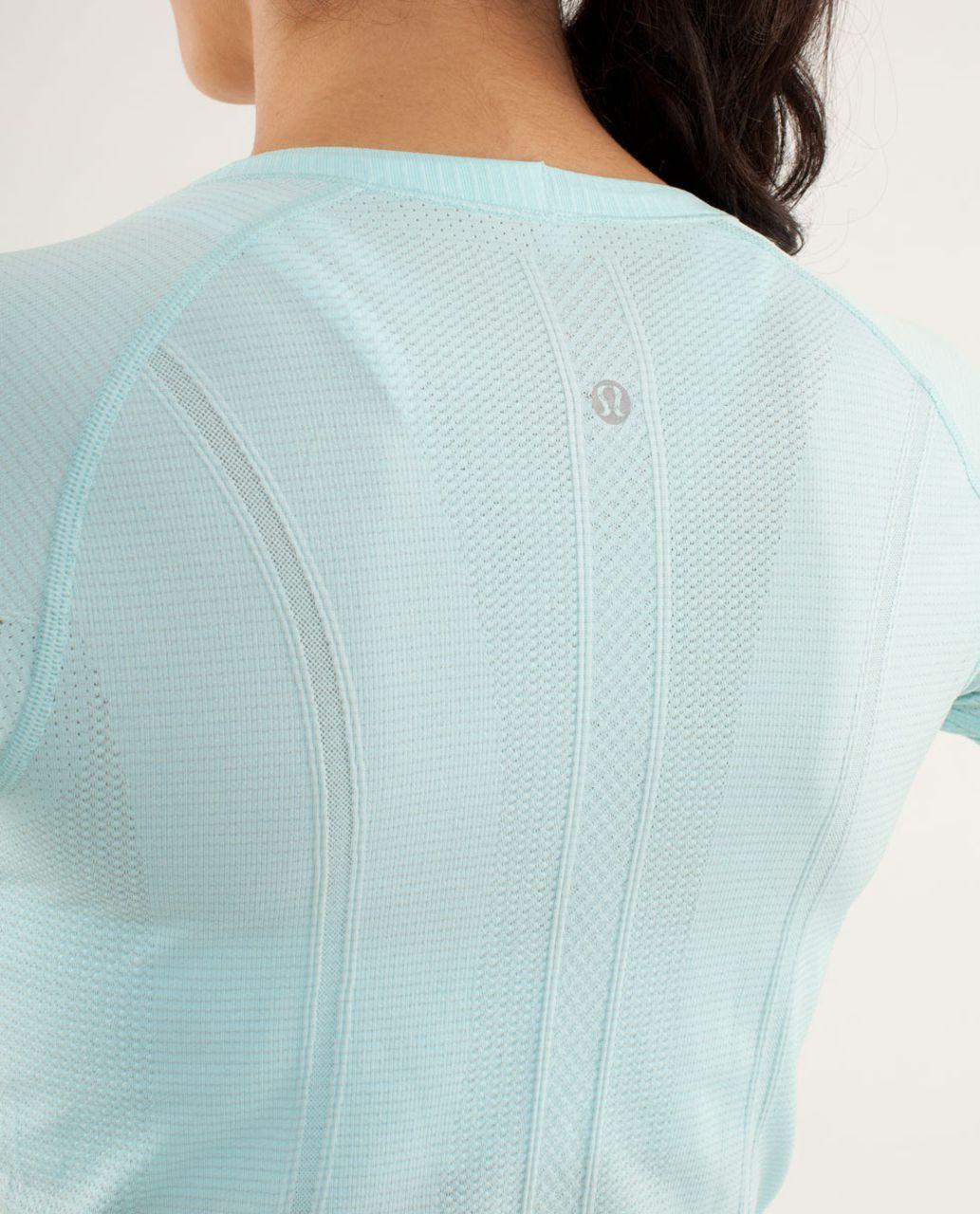 Lululemon Run:  Swiftly Tech Long Sleeve Scoop - Aquamarine
