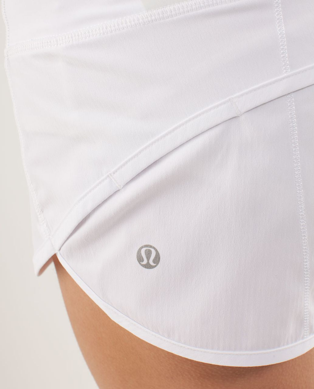 Lululemon Run:  Speed Short - White / Bold Stripe Nimbus