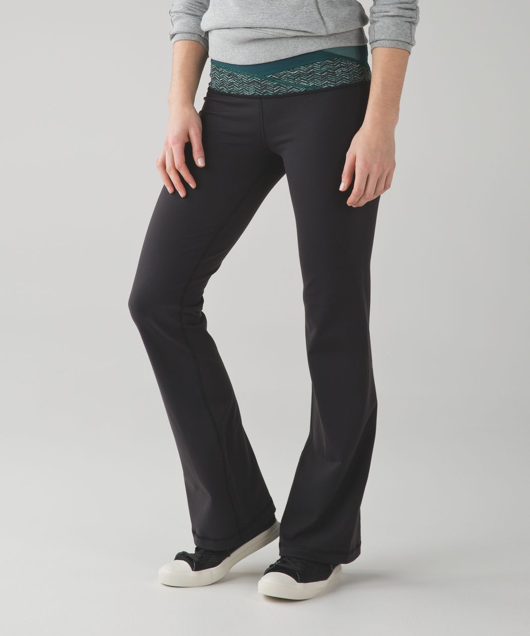 Lululemon Groove Pant III (Regular) *Full-On Luon - Black / Deep Green / Sea Mist