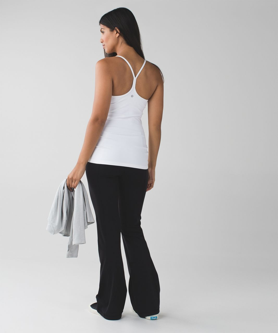 Lululemon Groove Pant III (Tall) *Full-On Luon - Black / Dramatic Static White Black