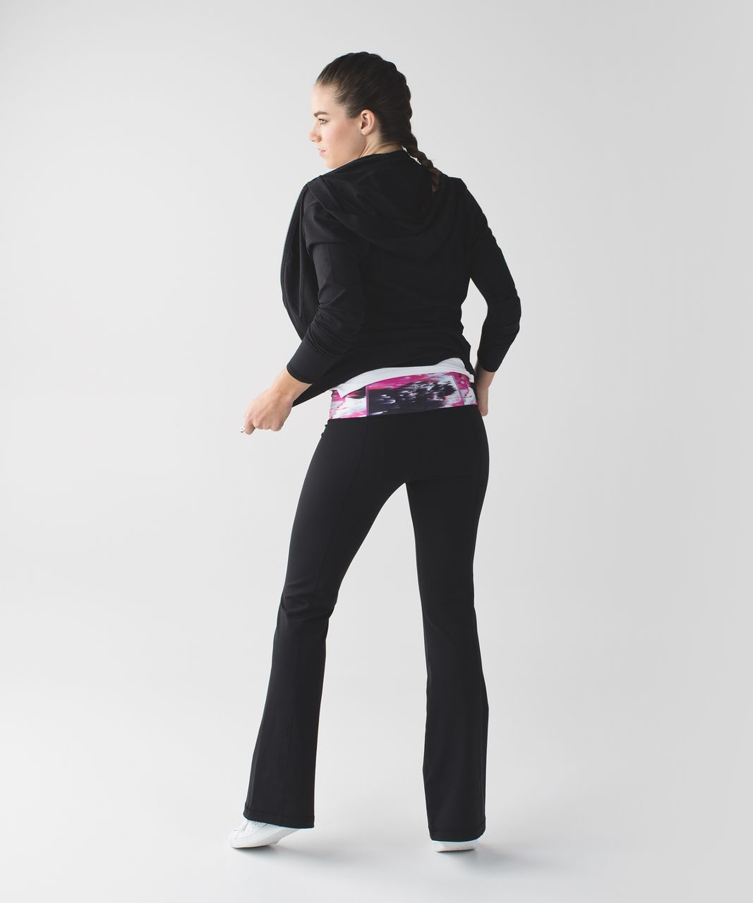 Lululemon Groove Pant III (Tall) *Full-On Luon - Black / Pigment Wind White Multi