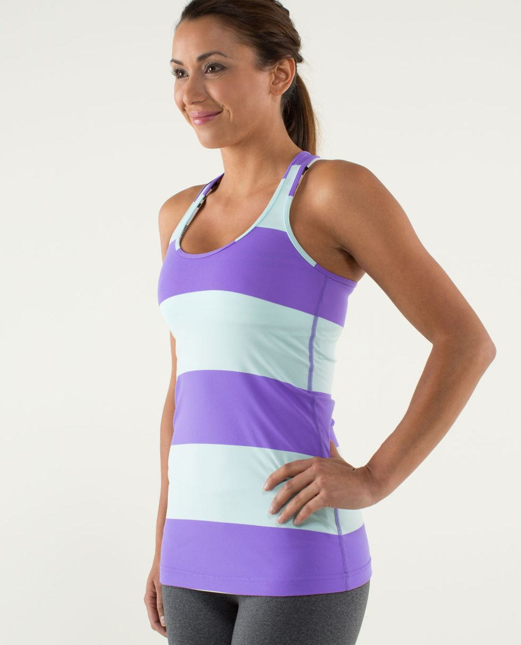Lululemon Cool Racerback - Bold Stripe Power Purple