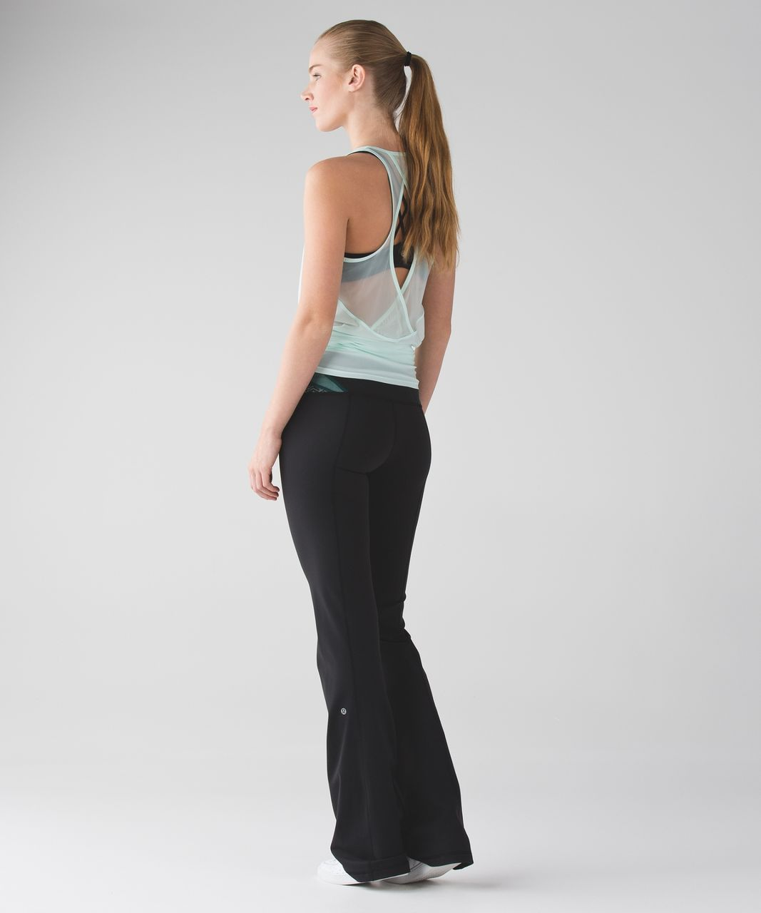 Lululemon Groove Pant III (Tall) *Full-On Luon - Black / Deep Green / Sea Mist
