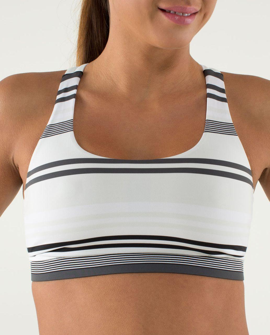 Lululemon Energy Bra - Groovy Stripe Nimbus / Nimbus
