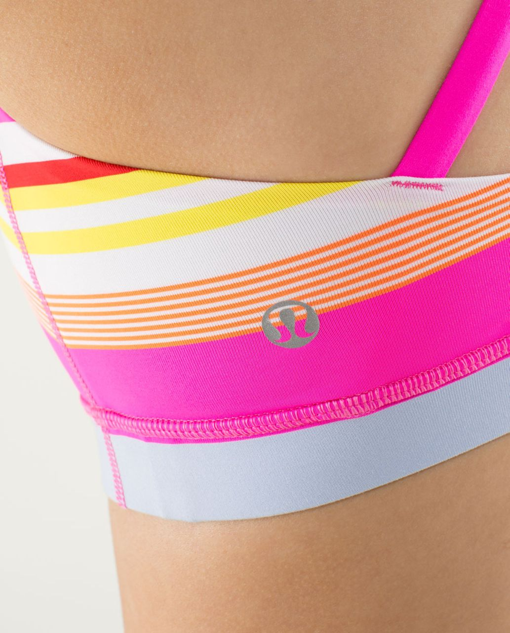 Lululemon Energy Bra - Groovy Stripe Multi / Raspberry Glo Light