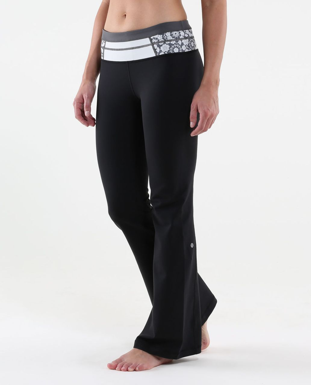 Lululemon Groove Pant (Regular) - Black / Quilt Summer13 2
