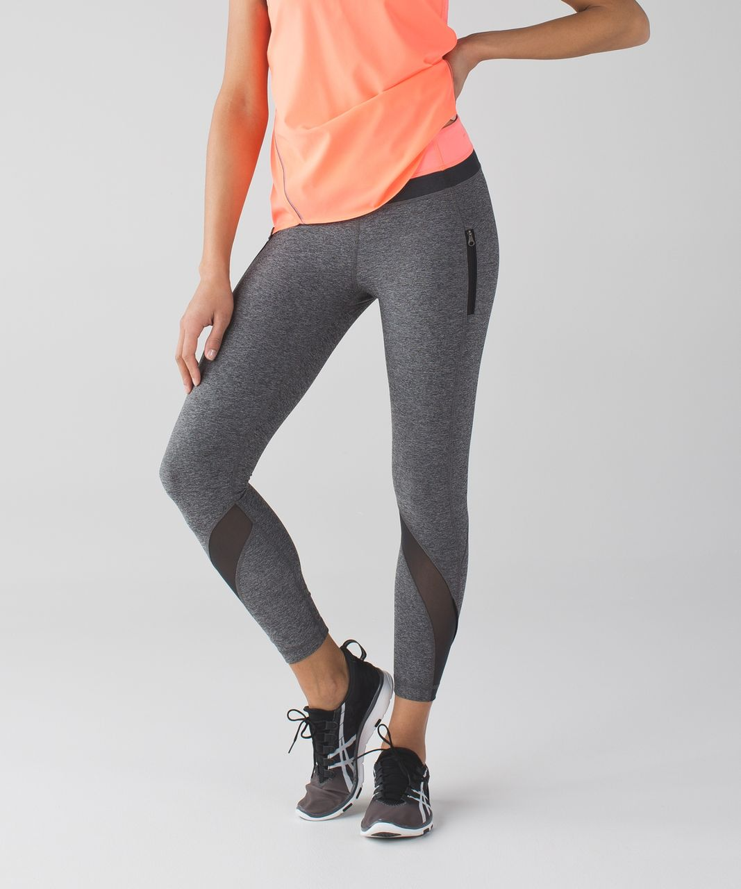 936db80a0b Lululemon Inspire Tight II (Mesh) - Heathered Black / Very Light Flare /  Deep Coal - lulu fanatics