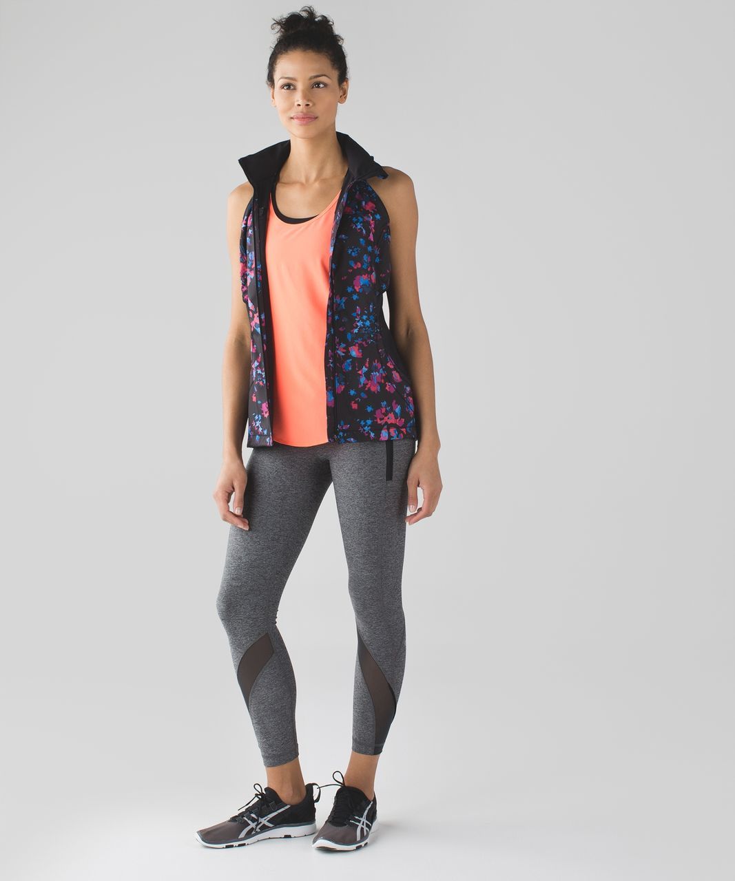 Lululemon Inspire Tight II (Mesh) - Heathered Black / Very Light Flare / Deep Coal