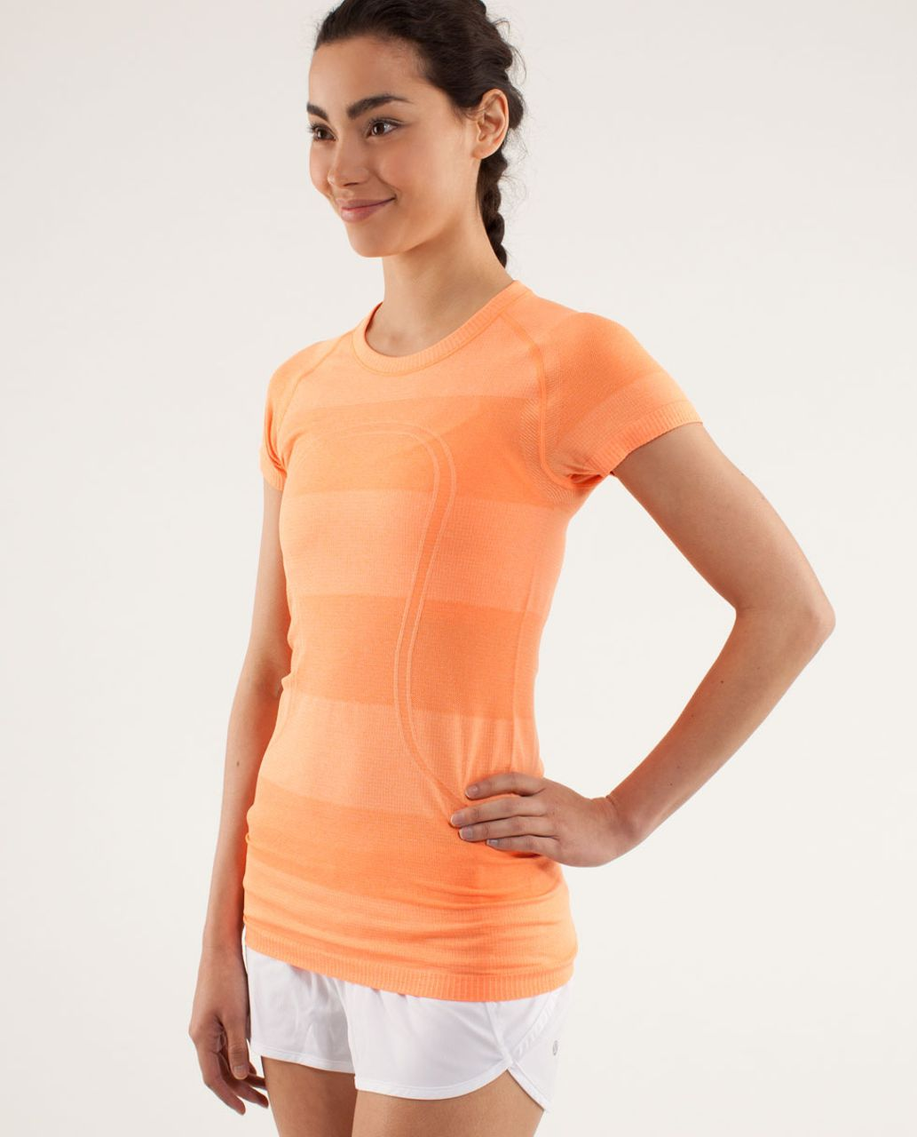Lululemon Run:  Swiftly Tech Short Sleeve - Pizzaz