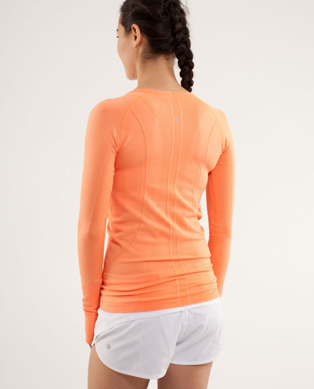 Lululemon Run:  Swiftly Tech Long Sleeve Scoop - Pizzaz
