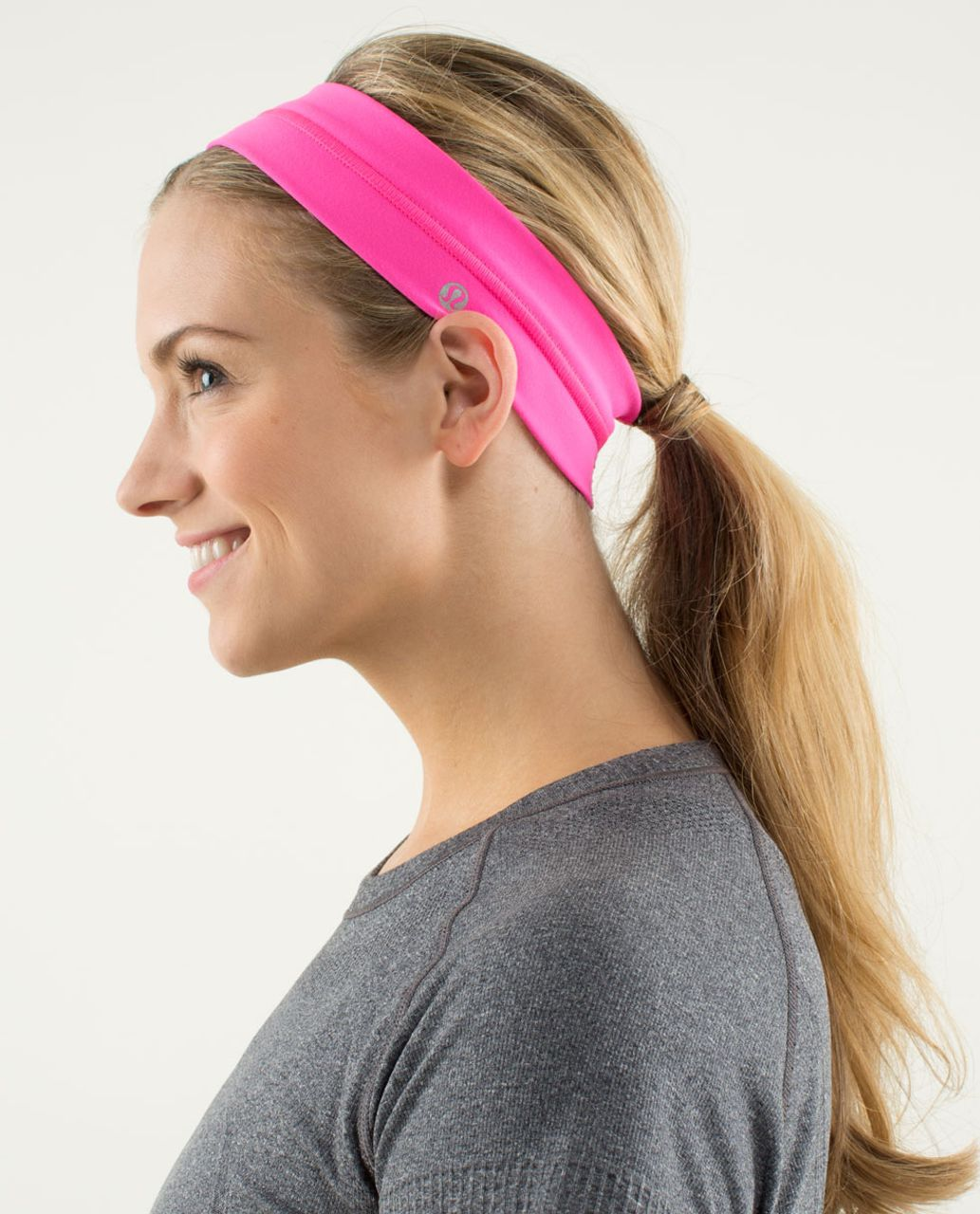 Lululemon Fly Away Tamer Headband - Raspberry Glo Light (Second Release)