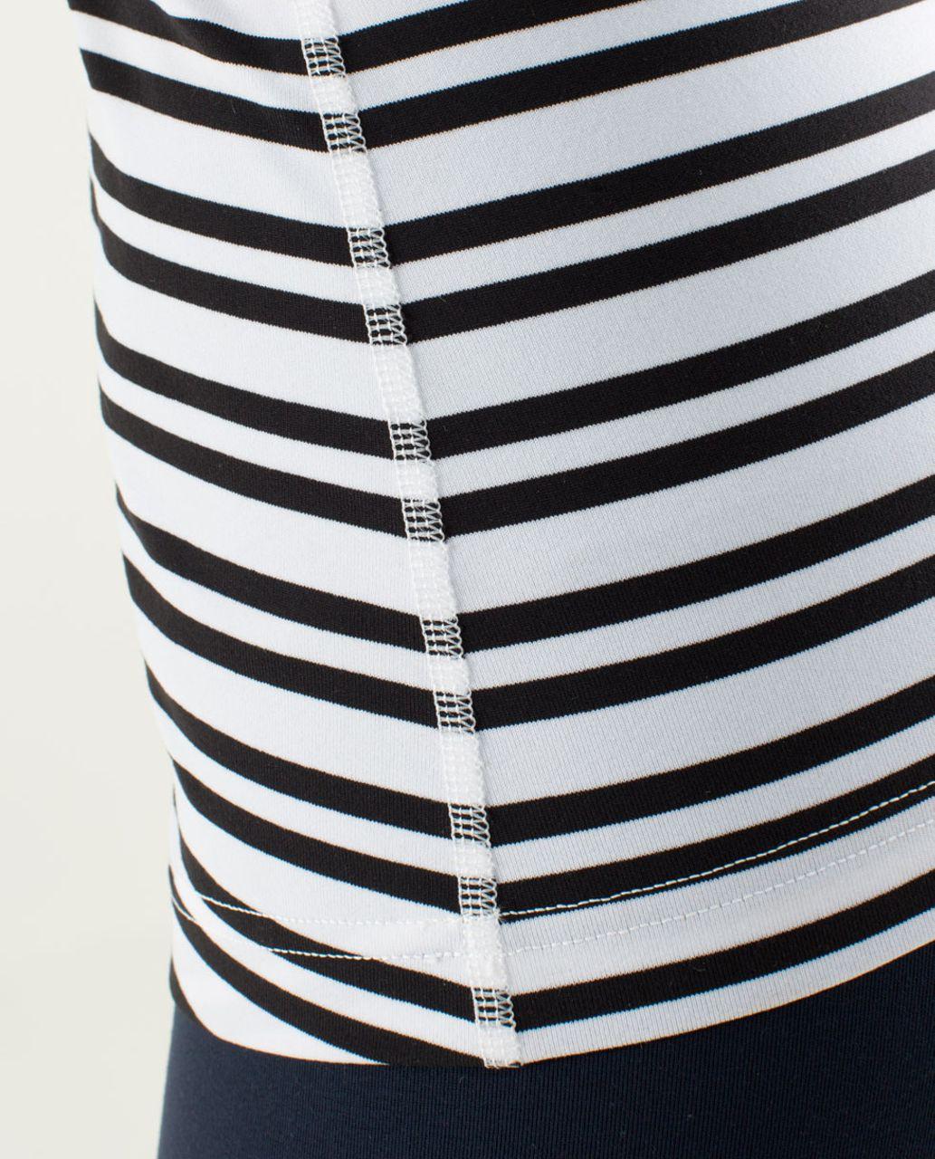 Lululemon Cool Racerback - Twin Stripe Black