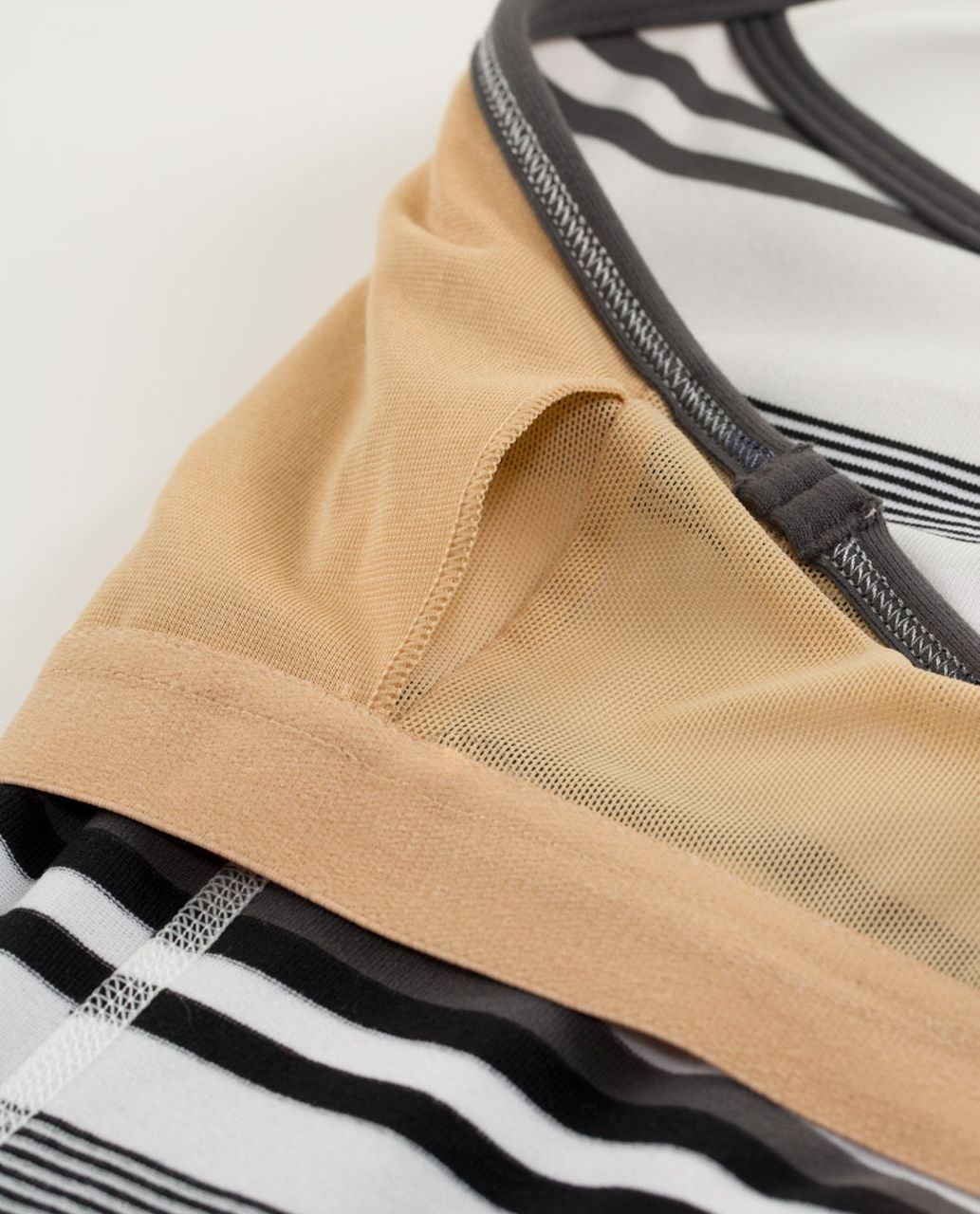 Lululemon Power Y Tank *Luon Light - Groovy Stripe Nimbus / Soot Light