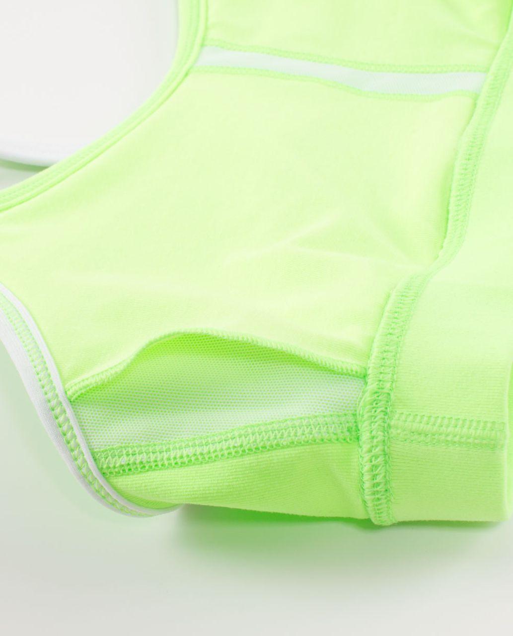 Lululemon Flow Y Bra IV - Zippy Green / White