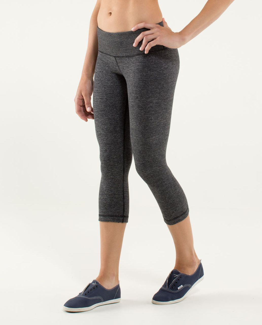 Lululemon Wunder Under Crop *Reversible - Black / Black