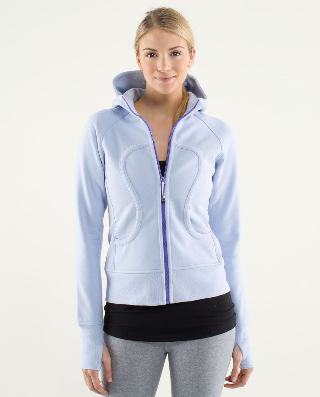 Lululemon Scuba Hoodie *Stretch (Lined Hood) - Cool Breeze / Power Purple